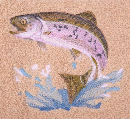 trout bath towels