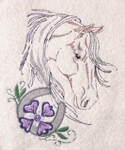 Horse Head, flower and horseshoe
