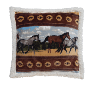 Horses Decorative Pillow