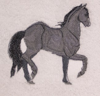 Paso Fino Horse Embroidered Bath, Hand, Wash Towels