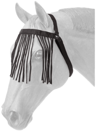Tough 1 Miniature Horse Durable Black Nylon Fly Veil