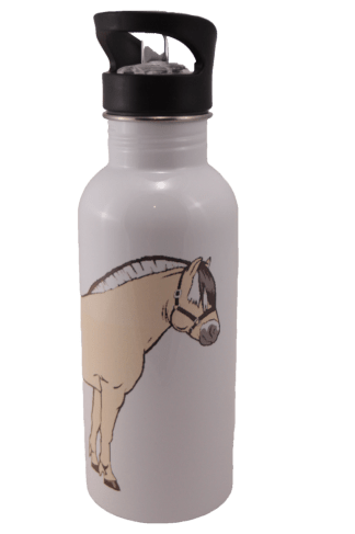 Norwegian Fjord Horse Aluminum Water Bottle