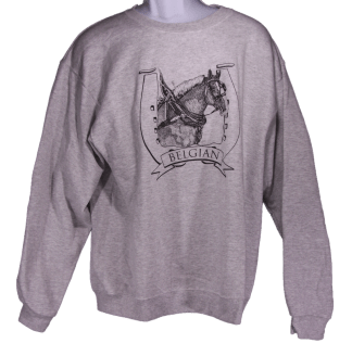 Belgian Draft Horse Head in Harness Sweatshirt