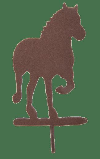 Draft Horse Brown Metal Shower Hooks