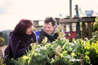 Conor Boyle with Patricia Wallace from L'Arche Belfast