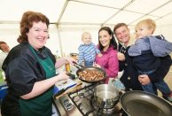 River 2 Lough Festival. pictured: Paula McIntyre with Helen and Matt Dunn with sons Matthew (3) and Asher (15months) from Ballymena JC16