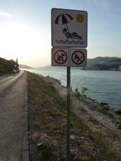 Straße und Strand privatisiert