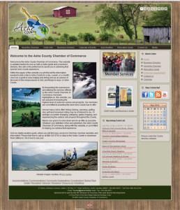 Ashe County Chamber of Commerce Joomla Website