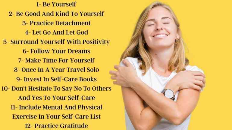 12 steps to self care poster