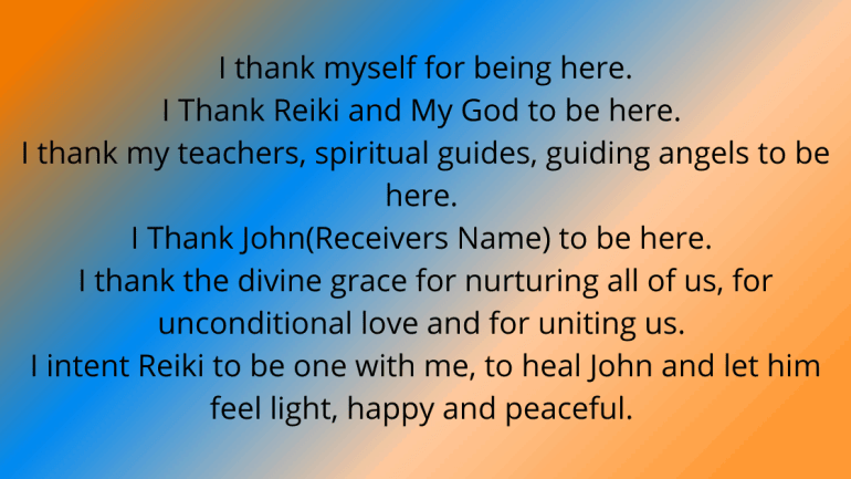 Reiki Prayer for Healing