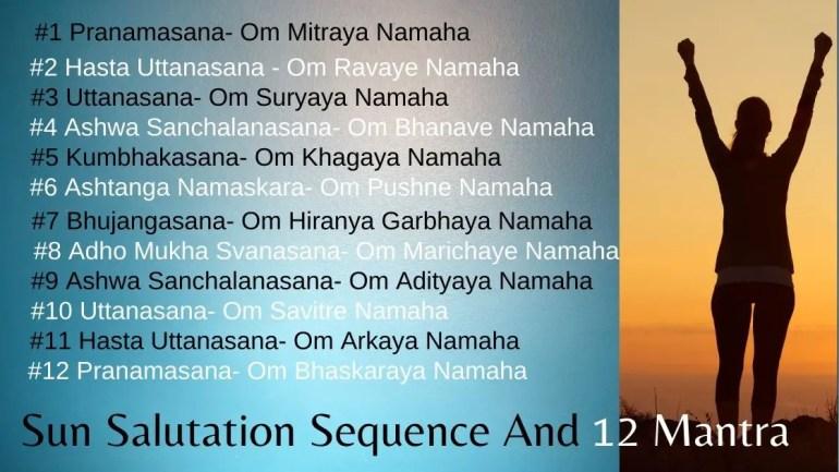 surya namaskar mantra lyrics Images