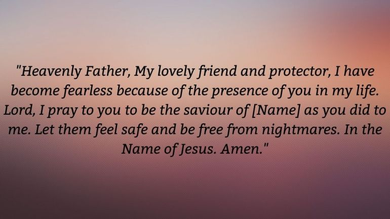 Prayer for nightmares Images
