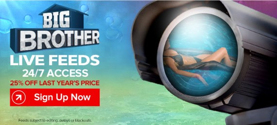Big Brother Live Feeds Discount Banner