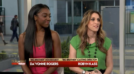 Big Brother casting director Robyn Kass & star Da'Vonne Rodgers (YouTube)