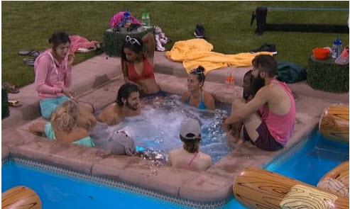 Big Brother 18 Hot Tub