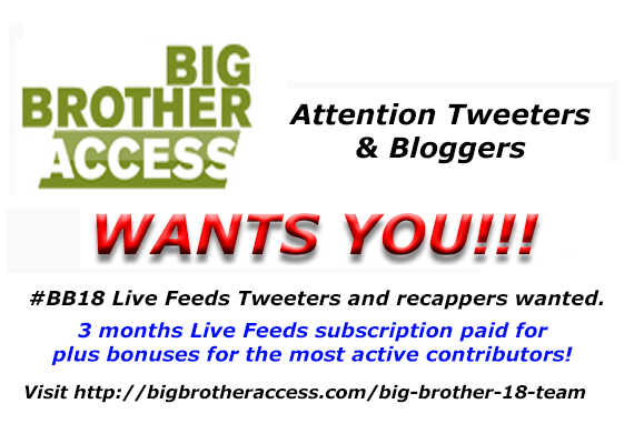 Join our Big Brother 18 team!