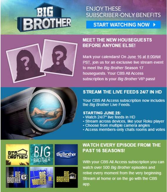 Big Brother Live Feeds Banner