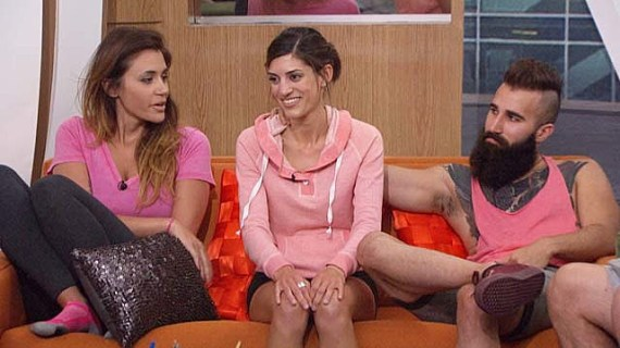 Tiffany Rousso, Bronte D'Acquisto and Paul Abrahamian are on the block on the CBS series BIG BROTHER, scheduled to air on the CBS Television Network. Photo: Cliff Lipson/CBS ©2016 CBS Broadcasting, Inc. All Rights Reserved