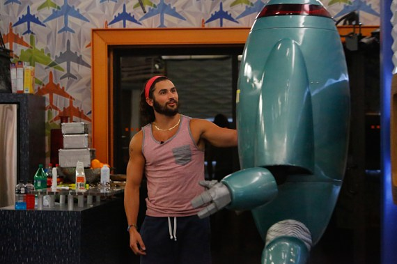 Big Brother Zingbot and Victor Arroyo (Photo Courtesy of CBS)
