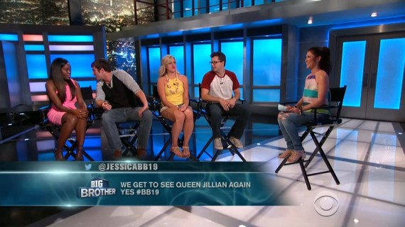 Big Brother 19 Jillian Parker, Cameron Heard, Dominique Cooper, Cody Nickson and Julie Chen