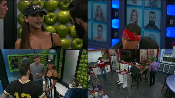 Big Brother 19 Jessica Graf, Cody Nickson, Joshh Martinez, and Paul Abrahamian