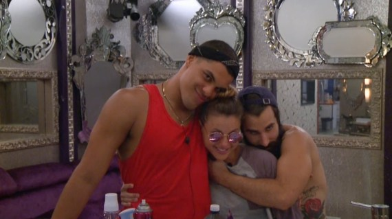 Big Brother 19 Josh Martinez, Christmas Abbott, and Paul Abrahamian