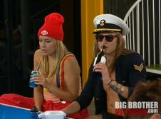 Big Brother 14 - Ashley and Will drinking