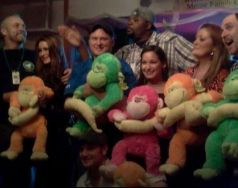 Big Brother HGs pose with toys