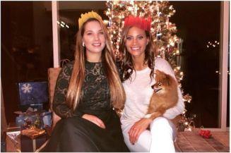 Amber Borzotra & family on Christmas