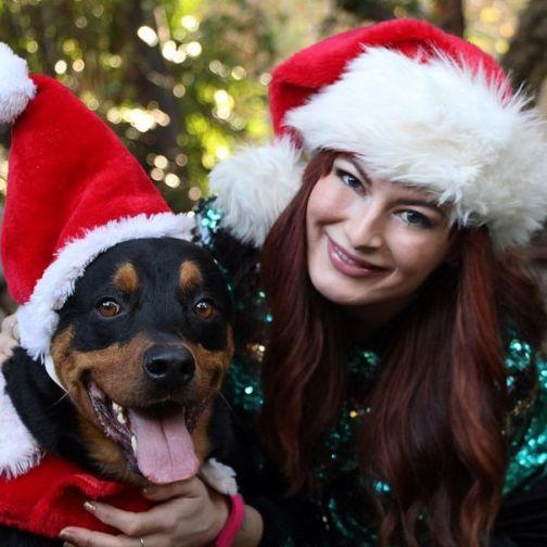 Rachel Reilly celebrates Christmas