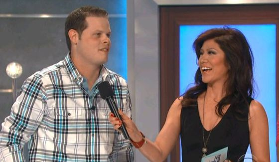 Big Brother 16 winner Derrick Levasseur with Julie Chen