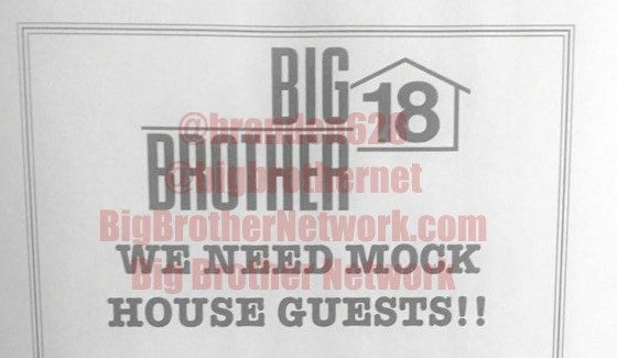 Big Brother 18 Mock Houseguests Search