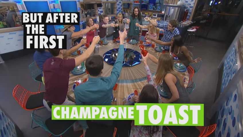But after the first Champagne toast – BB18 promo