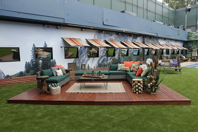 Backyard sitting area over old hot tub on Big Brother 18