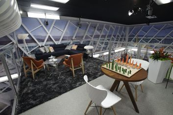 Upstairs area of the Big Brother 18 house