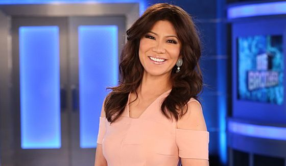 Big Brother host Julie Chen outside the BB18 house