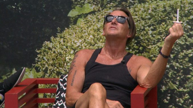 Kevin enjoys the BB19 backyard