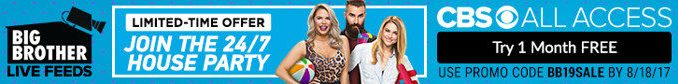 Big Brother Live Feeds - 1-Month Free Trial