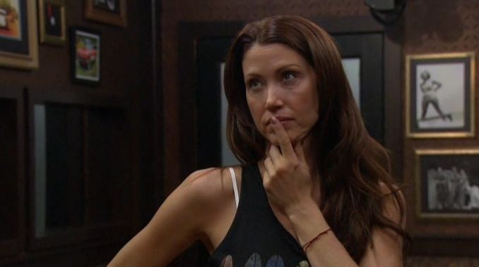 Shannon Elizabeth contemplates her game on CBB