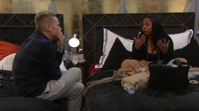 Mark and Keshia talk on Celebrity Big Brother
