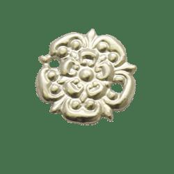 Medal Ribbon Bar Silver Rosette