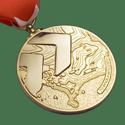 Endurance Life Gold Sports Medal Front