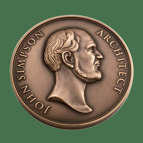 John Simpson Architect Medal Front
