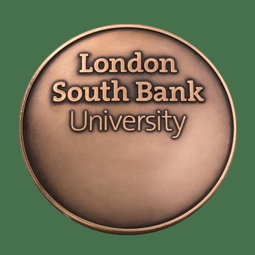 London South Bank University Medal Reverse