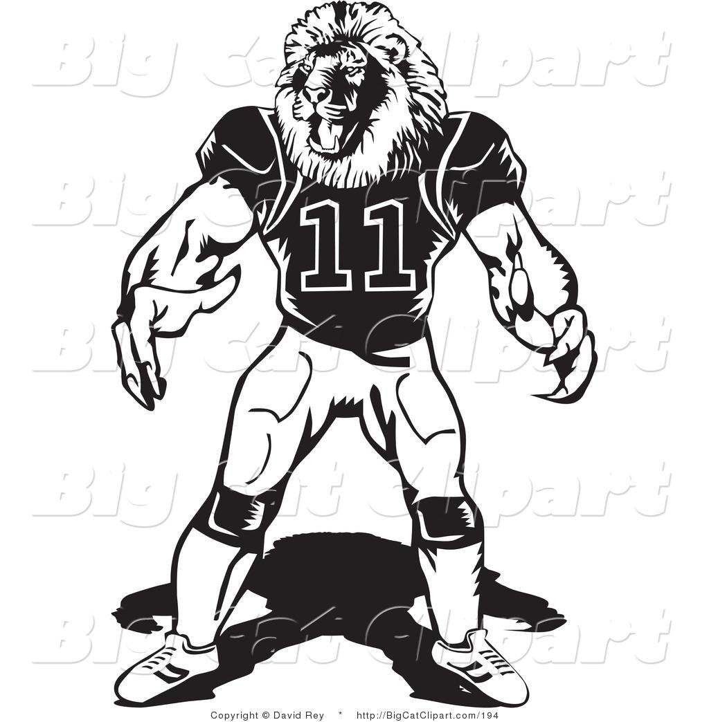 Royalty Free American Football Stock Big Cat Designs