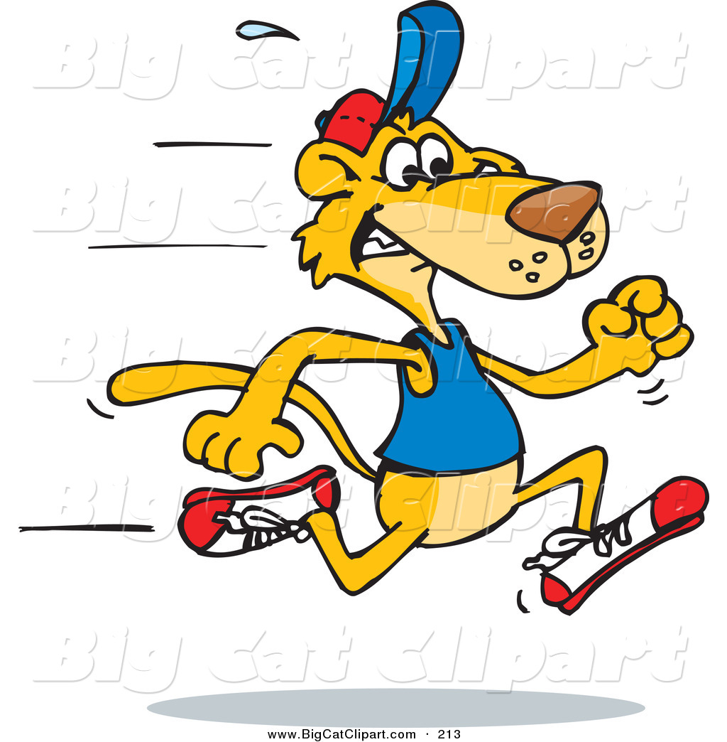 Big Cat Vector Clipart of a Fast Mountain Lion Running to ... (1024 x 1044 Pixel)
