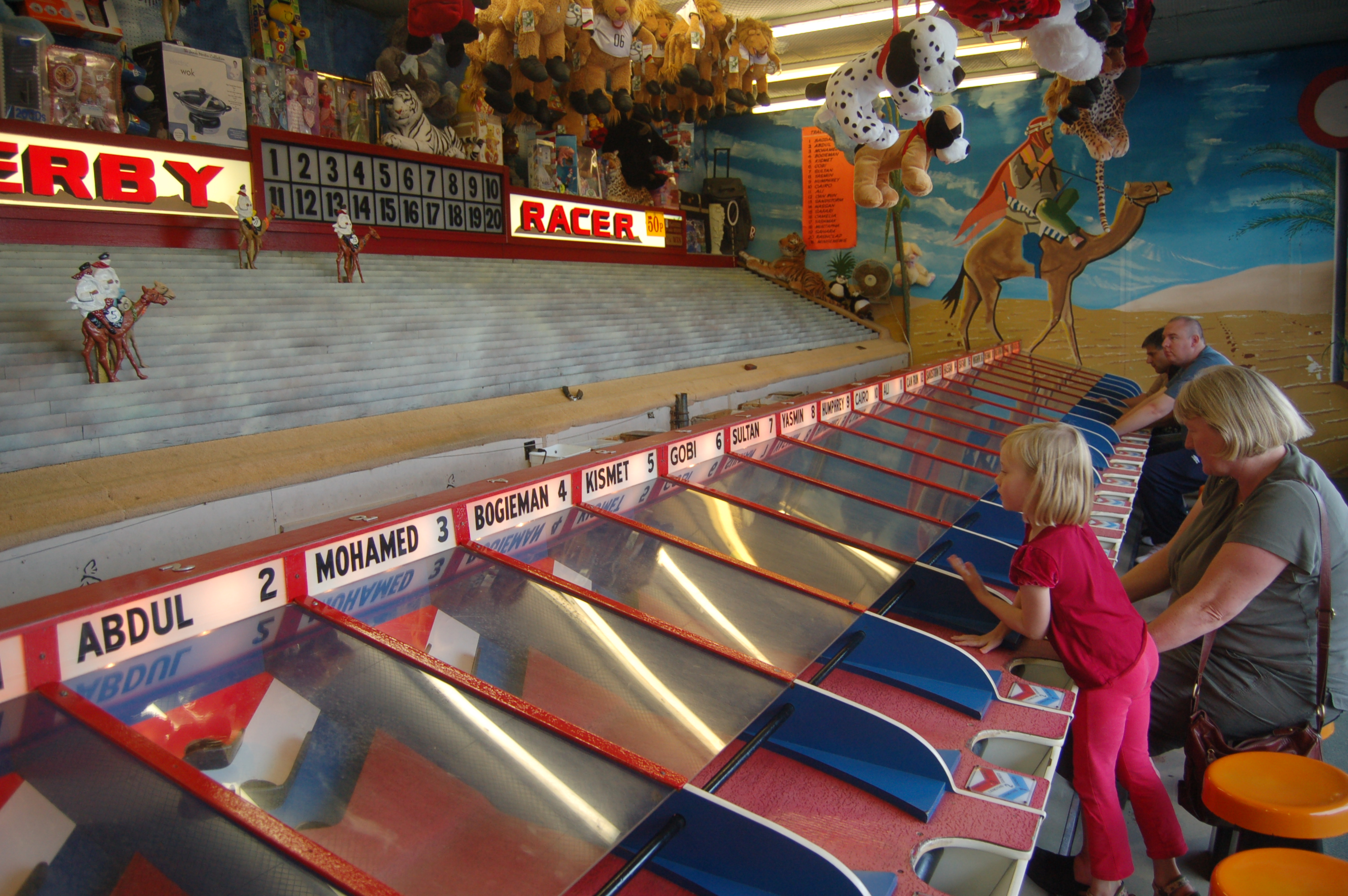 Rebekah playing the camel derby