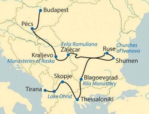 Карта маршрута Danube Express