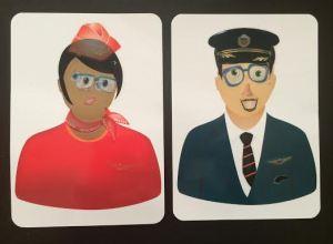 Chinese aeroflot crew