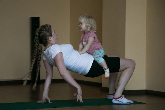 Masha fitness with baby